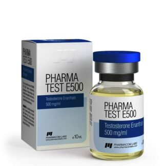 pharmacom labs 500mg testosterone enanthate injection vial